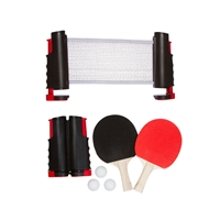 Anywhere Table Tennis Set with Paddles Balls by Trademark Innovations (Blue)