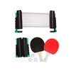 Anywhere Table Tennis Set with Paddles Balls by Trademark Innovations (Green)