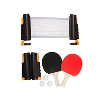 Anywhere Table Tennis Set with Paddles Balls by Trademark Innovations (Orange)