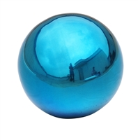 "Gazing Mirror Ball Stainless Steel By Trademark Innovations (Blue, 8"")"