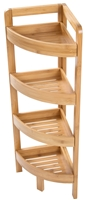 Bamboo Corner Storage Shelf 4 Tier By Trademark Innovations