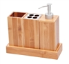 Bath Set Bath Caddy 100% Natural Bamboo By Trademark Innovations