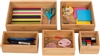 Bamboo 5-Piece Drawer Organizer Boxes by Trademark Innovations