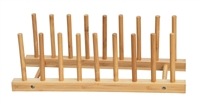 Plate Holder For 8 Plates Made From Natural Bamboo by Trademark Innovations