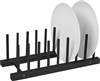 Plate Holder Black Finish For 8 Plates Made From Natural Bamboo by Trademark Innovations