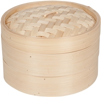 Bamboo Steamer 3 Piece 10 Inch Diameter By Trademark Innovations