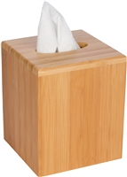 Bamboo Square Boutique Tissue Box Cover by Trademark Innovations