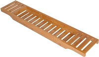 "Bamboo Large 28.7"" Long Slatted Bathtub Tray By Trademark Innovations"
