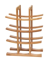 Wine Rack Holds 12 Bottles Made From Natural Bamboo By Trademark Innovations