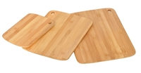 Set of 3 Bamboo Cutting Boards Cutlery Accessory by Trademark Innovations