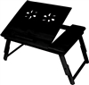 Trademark Innovations Folding Bamboo Bed/Tray (Black)