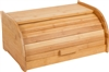 Trademark Innovations 100% Bamboo Breadbox with Sliding Door