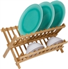 Premium Bamboo Dish Rack for Large/Thick Plates by Trademark Innovations
