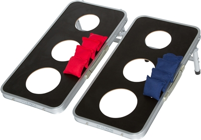 3 Hole Cornhole Bean Bag Toss Set Aluminum Frame
