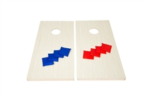 Trademark Innovations Bean Bag Toss Set Premium All Wood Cornhole Set Includes 8 Bags, 4' Long