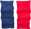 High Quality Bean Bags Set of 8 4 Red 4 Blue 1lb Bags with Stiched Duck Cloth