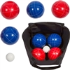 Bocce Ball Premium Set Top Quality Resin Balls 9 Balls with Carry Case