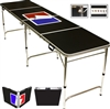Sports Official Beer Pong Table 8 Feet with Bottle Opener, Ball Rack, 6 Pong Balls!