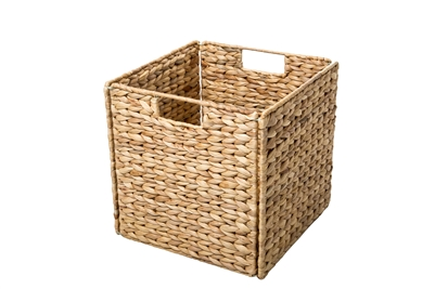 Foldable Hyacinth Storage Basket with Iron Wire Frame by Trademark Innovations