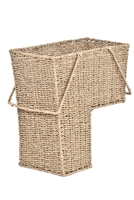 Wicker Storage Stair Basket With Handles by Trademark Innovations