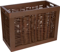 Rectangular Willow with Wood Frame Storage Basket by Trademark Innovations