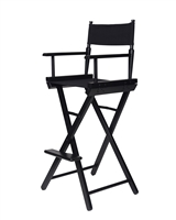 Director's Chair Counter Height Black Wood By Trademark Innovations