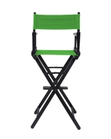 Director's Chair Counter Height Black Wood By Trademark Innovations (Green)