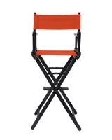 Director's Chair Counter Height Black Wood By Trademark Innovations (Orange)