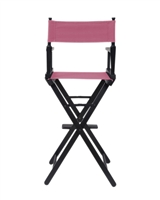 Director's Chair Counter Height Black Wood By Trademark Innovations (Pink)