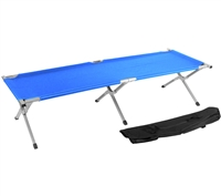 Trademark Innovations Portable Folding Camping Bed Cot Portable Bed 260 lbs Capacity Blue