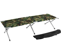 Trademark Innovations Portable Folding Camping Bed Cot Portable Bed 260 lbs Capacity Camo