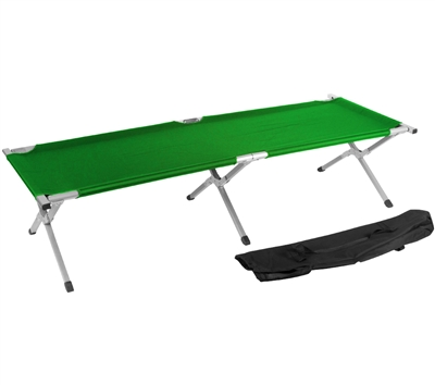 Trademark Innovations Portable Folding Camping Bed Cot Portable Bed 260 lbs Capacity Green