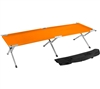 Trademark Innovations Portable Folding Camping Bed Cot Portable Bed 260 lbs Capacity Orange