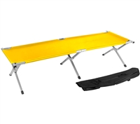 Trademark Innovations Portable Folding Camping Bed Cot Portable Bed 260 lbs Capacity Yellow