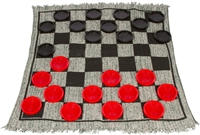 Giant Checker/Tic Tac Toe Reversible Game Rug by Trademark Innovations