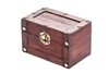 Small Decorative Wood Treasure Chest By Trademark Innovations