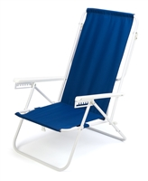 7-Position High Back Steel Tube Beach Chair by Trademark Innovations (Blue)