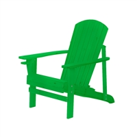 Natural Wood Adirondack Chair by Trademark Innovations (Green)