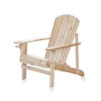 Natural Wood Adirondack Chair by Trademark Innovations (Natural)