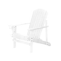 Natural Wood Adirondack Chair by Trademark Innovations (White)