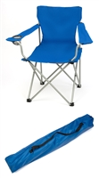Portable Folding Camp Chair by Trademark Innovations (Blue)