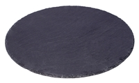 "14"" Round Slate Cheese Board Serving Tray with Slate Chalk by Trademark Innovations"
