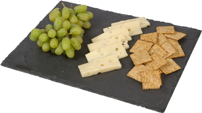 Slate Cheese Board Serving Tray with Chalk by Trademark Innovations