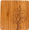 "Bamboo Coaster with Tree Design Set of 4 4"" Square by Trademark Innovations"