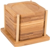 All Natural Bamboo Coaster – Set of 6 in Holder