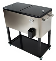 Stainless Steel 77 Quart Rolling Portable Cooler by Trademark Innovations