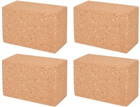 Cork Yoga Block by Trademark Innovations (Set of 4)