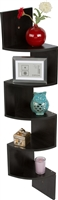 Corner Wall Mount Storage Display Shelf by Trademark Innovations
