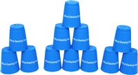 Quick Stack Cups Set of 12 Sport Stacking Cups By Trademark Innovations (Blue)