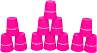 Quick Stack Cups Speed Training Sports Stacking Cups Set of 12 By Trademark Innovations (Pink)
